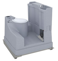 Plastic portable chemical toilet